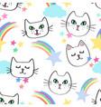celestial kitties vector image vector image