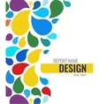 Color Cover design with drops vector image vector image