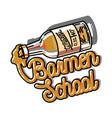color vintage barmen school emblem vector image vector image
