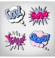 Comic Bubbles with Expressions Pop Art vector image vector image