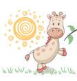 cute giraffe animals idea for print t-shirt vector image vector image