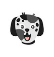 cute spotted puppy head funny cartoon animal vector image