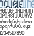 Double Line retro style geometric font light vector image vector image