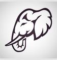 elephant logo icon design vector image vector image