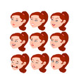 emotions a cute girl isometry avatar set vector image