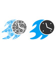 fire deadline clock composition of service tools vector image