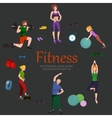 Fitness concept flat Isolated vector image vector image