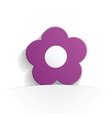 flower icon paper vector image vector image