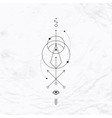 Geometric abstract mystic symbol vector image
