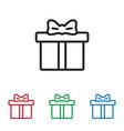 giftbox icon vector image vector image