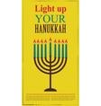 Happy Hanukkah greeting card design jewish holiday vector image vector image