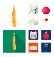 isolated object of relaxation and flame icon vector image vector image