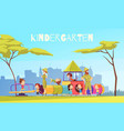kindergarten playing ground composition vector image vector image