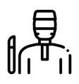 korean doctor icon outline vector image vector image
