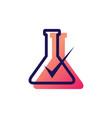 lab check verified logo icon vector image vector image