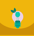 light save planet on ecology style lamp with vector image vector image