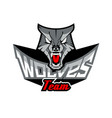 logo template with wolf head vector image vector image