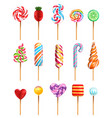 lollipop realistic set vector image vector image