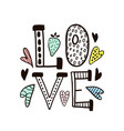 love word isolatedhand drawn with vector image vector image