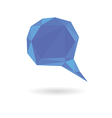 low poly geometric speech bubble vector image