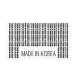 made in korea text vector image