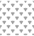 Menorah pattern simple style vector image