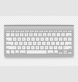 modern wireless keyboard isolated on transparent vector image vector image