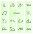 moving icons vector image vector image