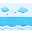 Nature scene with blue ocean vector image