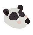 panda cartoon head colorful silhouette in white vector image