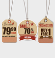 Price tag sale coupon voucher Vintage Style vector image vector image