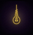 retro light bulb neon sign light signboard vector image