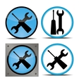 set of buttons indicating repairs vector image vector image