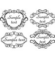 set of frames for your design vector image vector image