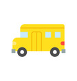 simple school bus transportation icon vector image vector image