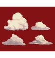 sky clouds red background design vector image