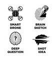 smart brain and innovative intelligence idea vector image