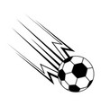 soccer ball with effect icon vector image vector image