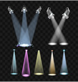 spotlight effects - set of projector lights vector image vector image