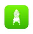 throne icon green vector image vector image