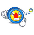 thumbs up yoyo character cartoon style vector image