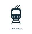 trolleyibus icon in flat style icon design vector image vector image
