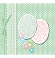 Vintage Easter card with eggs vector image vector image
