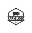 vintage pig logo vector image vector image