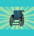 wheelchair medicine and health transportation of vector image