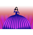 woman in elegant pink dress girl in ball gown vector image