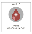 World Hemophilia Day vector image vector image