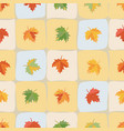 yellow red orange and green maple leaves vector image