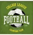 Logo for soccer or football t-shirt vector image