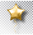 star gold balloon on transparent background party vector image